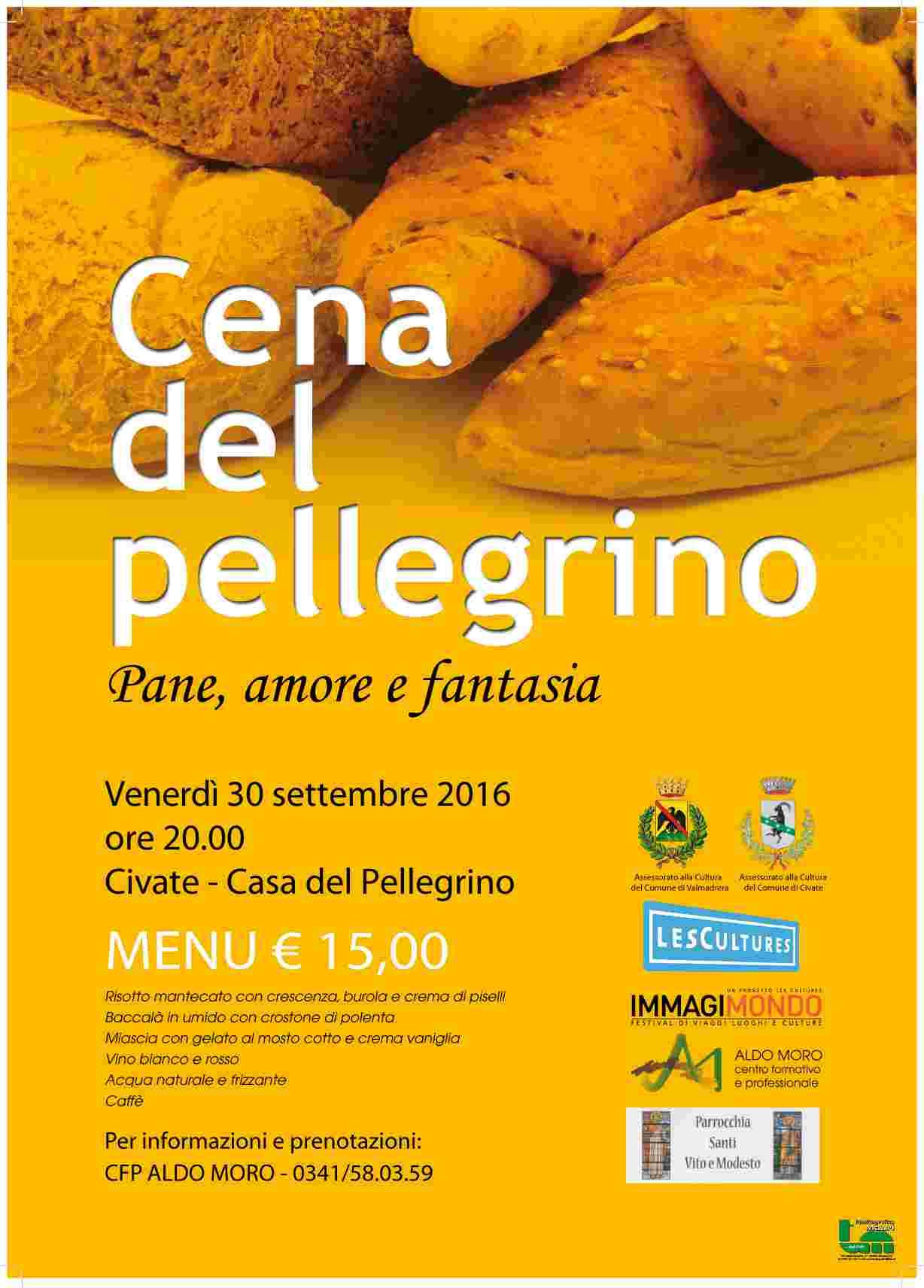 Cena del Pellegrino - Pane, amore e fantasia