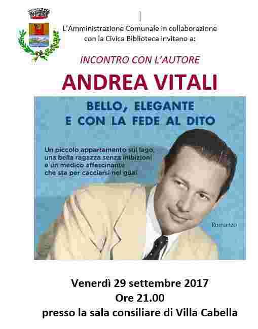 Andrea Vitali, incontro con l'autore
